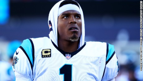 "Carolina Panthers quarterback Cam Newton told his young fans ""don't be like me."""
