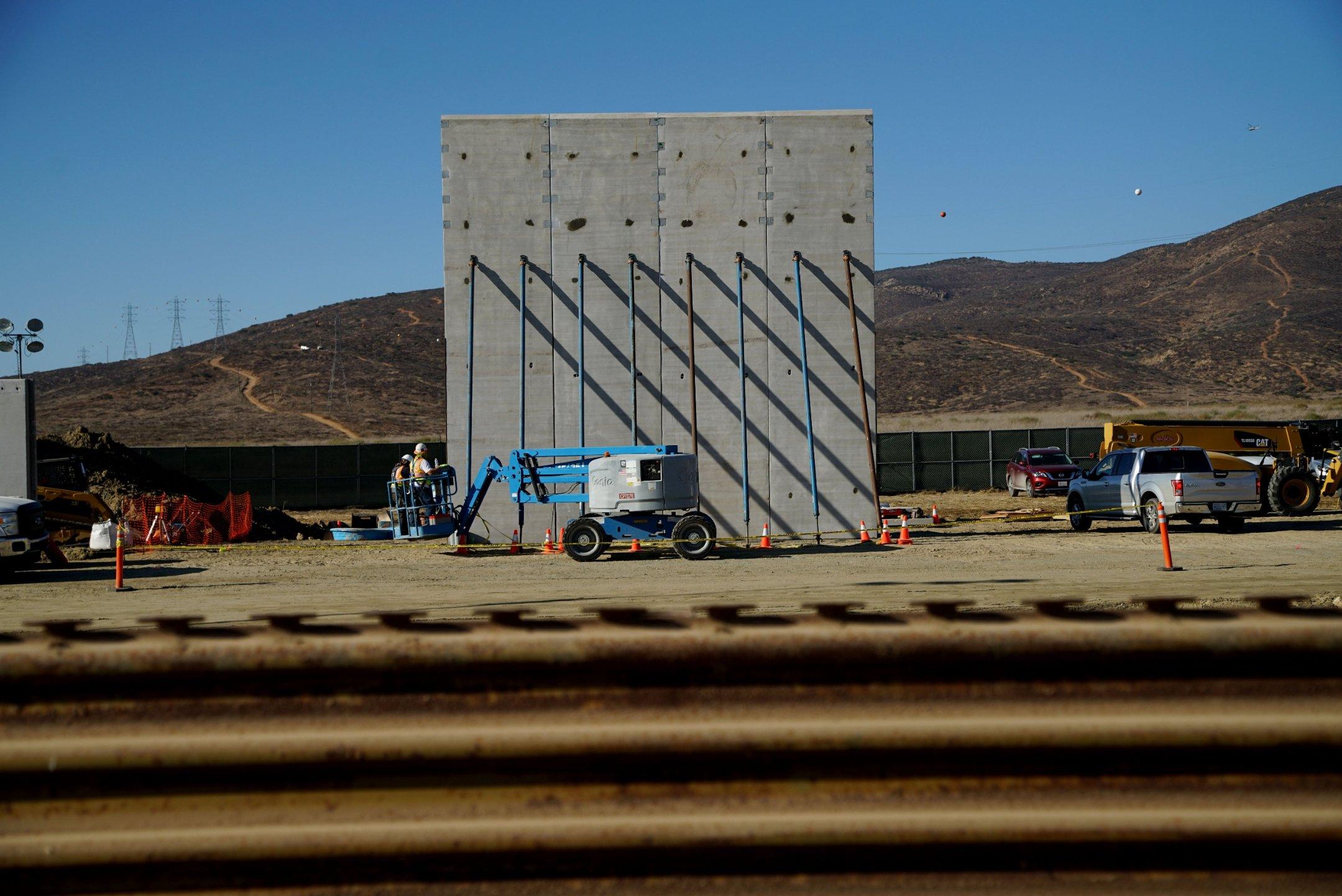 watch trumps border wall prototypes being built cnn video