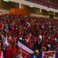 Costa Ricans celebrating world Cup Classification