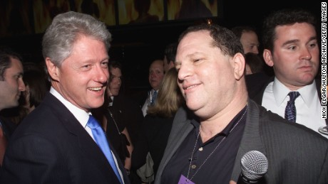 President Bill Clinton and Miramax Chief, Harvey Weinstein at Hillary Clinton's Birthday Party at the Hudson Hotel in New York City.  October 25, 2000  (Photo: Nick Elgar/ImageDirect)