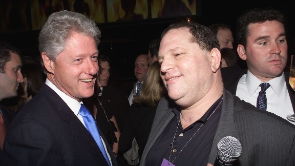 President Bill Clinton and Miramax Chief, Harvey Weinstein at Hillary Clinton's Birthday Party at the Hudson Hotel in New York City.  October 25, 2000