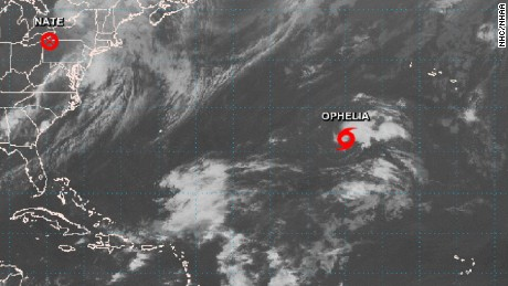 Tropical Storm Ophelia may peter out before making landfall.
