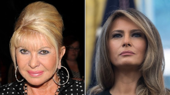 Ivana Trump, at left, and first lady Melania Trump, right.