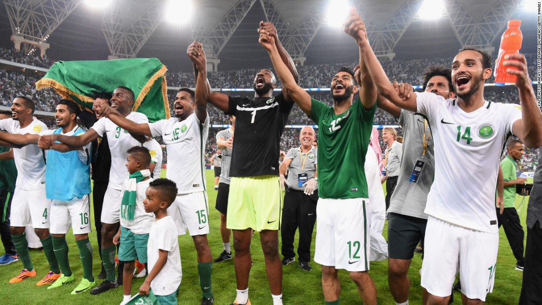 This will be Saudi Arabia's fifth appearance at a World Cup and the first since Germany 2006.  <br />