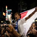 japan fans celebrate world cup qualification shibuya tokyo