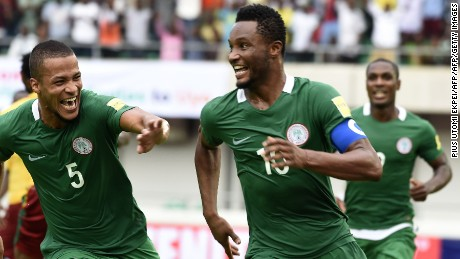 Nigeria's captain got a ransom demand for his kidnapped father hours before a World Cup game