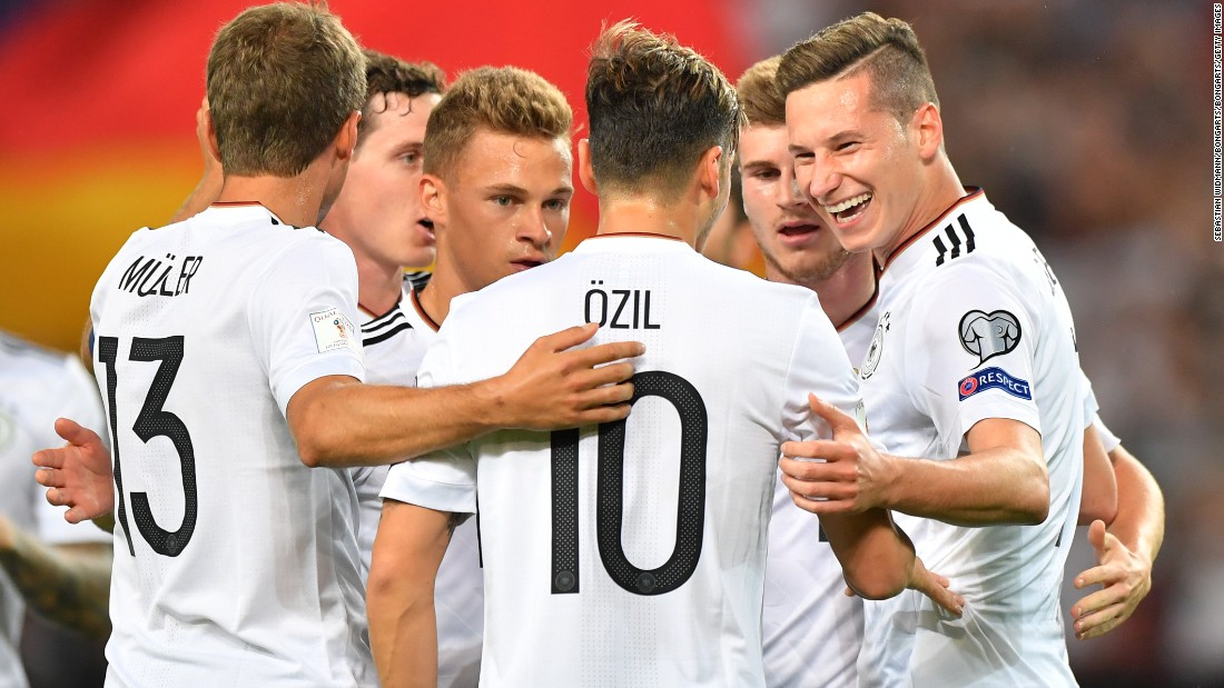 Boasting a 100% record in Group C of European qualifying, Germany could become the first team to retain the World Cup trophy since Brazil in 1962. <br />