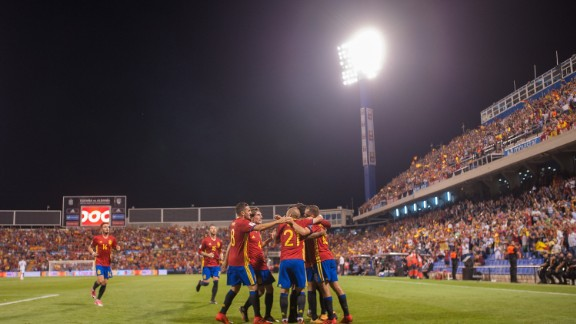 Amid the furore of Catalonia's disputed independence referendum, Spain went undefeated and qualified from Group G of European qualifying with a match to spare after beating Albania 3-0.