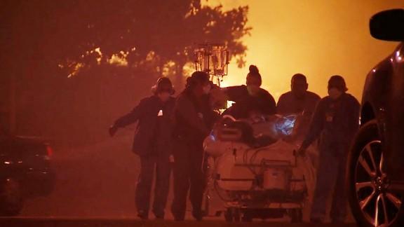 California Wildfires hospital evacuation.