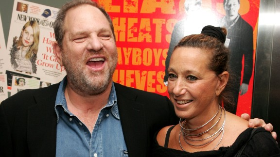 """NEW YORK - AUGUST 22:  Producer Harvey Weinstein and designer Donna Karan attend the New York Premiere of """"The Hunting Party"""" at the Paris Theater on August 22, 2007 in New York City.  (Photo by Peter Kramer/Getty Images)"""