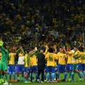brazil squad celebrate world cup qualification russia 2018