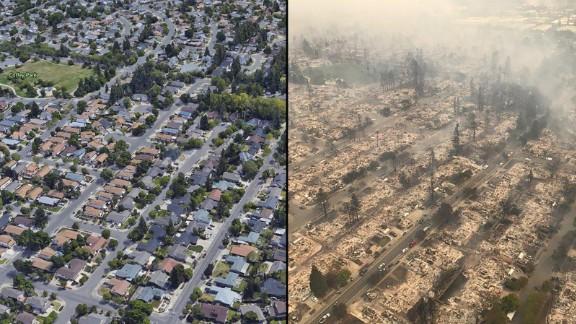 Aerial views show Santa Rosa
