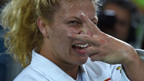 """""""I have a great friendship with Kayla Harrison, so for her to pick me out and strike a pose as she won her second Olympic title in Rio was really cool. She's a great character, and probably the most determined and mentally tough athlete I've come across."""""""
