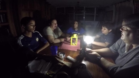 Almost 90% of Puerto Rico is still without electricity.