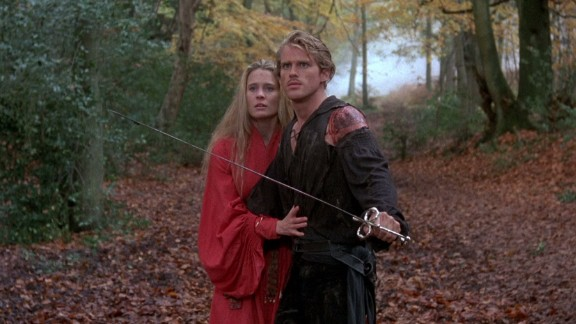 """Cary Elwes and Robin Wright starred in """"The Princess Bride,"""" which celebrated its 30th anniversary in 2017. Screenwriter William Goldman adapted his 1973 fantasy-quest novel for the Rob Reiner film. Here"""