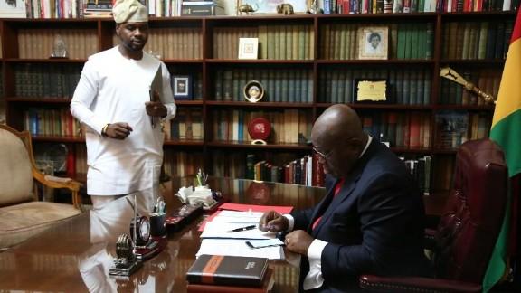 Adebola Williams with newly elected Ghanaian President, Nana Akufo-Addo