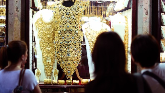 There is no sales tax in Dubai, making gold cheaper than other parts of the world. The souk is also well known for selling high quality gold.