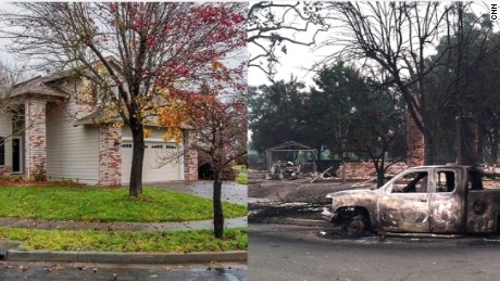 Zach Block home before and after CA wildfire