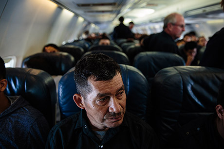 "Erminio Leiva Cano and his son were deported after living in the United States for about 10 months. ""I feel sad ... In the short time we were there, we didn't really accomplish anything,"" he says. ""I thought it was going to be different."""