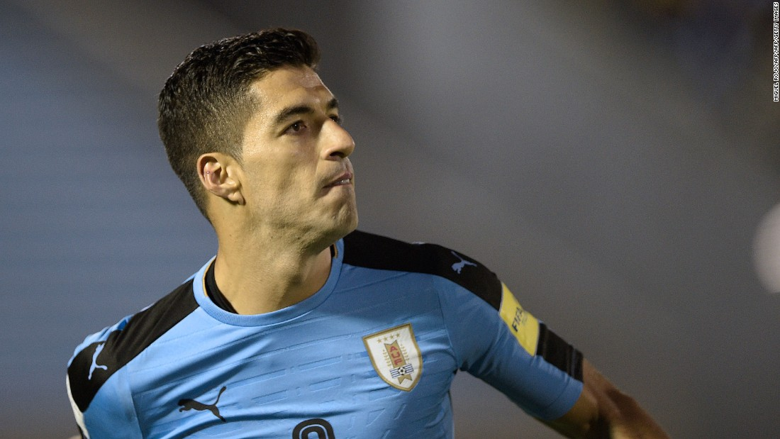 Messi's Barcelona teammate Luis Suarez scored twice in Uruguay's 4-2 win over Bolivia. The win ensured La Celeste finished second in South America qualifying. Suarez missed almost two years of playing competitive football for his country after biting Italy defender Giorgio Chiellini during a group match at the World Cup in Brazil.