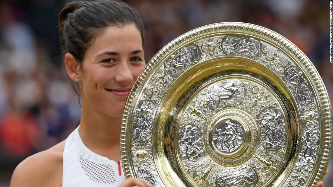Muguruza won her second grand slam title at Wimbledon in July, beating Venus Williams in the final.