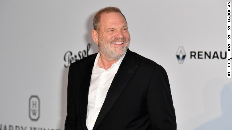 US producer Harvey Weinstein poses as he arrives for the amfAR's 24th Cinema Against AIDS Gala on May 25, 2017 at the Hotel du Cap-Eden-Roc in Cap d'Antibes, France. / AFP PHOTO / ALBERTO PIZZOLI        (Photo credit should read ALBERTO PIZZOLI/AFP/Getty Images)