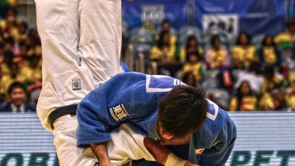 Shohei Ono is now an Olympic and double world champion at -73kg. But in 2013, he had none of those titles. This is him throwing France's Ugo Legrand for ippon in the 2013 World Championship final to become world champion for the first time. If I could choose only one picture to define my career, it would be this. Legrand is so perfectly vertical, which you rarely see in judo... let alone in a world championship final. This was the birth of a legend.