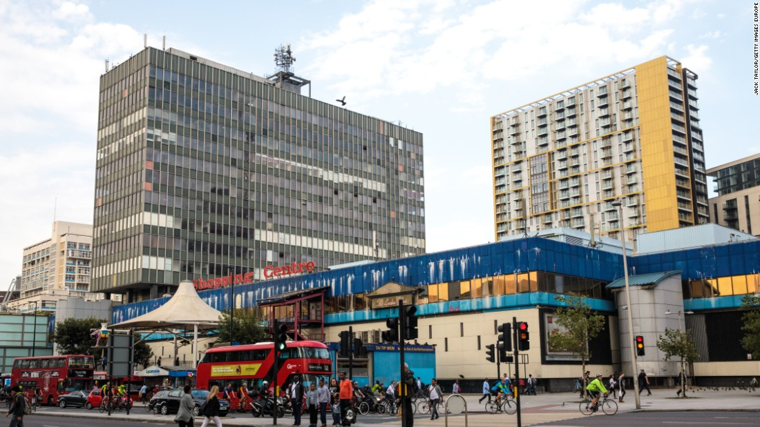 "In the city where the term ""gentrification"" was invented, the practice is widespread. In the Elephant and Castle neighborhood in South London, pictured, local residents and businesses have moved out to make way for new developments catering to the new higher-income residents."