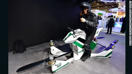 Flying Motorbike Joins Dubai Police S List Of Extreme Gadgets Cnn
