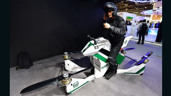 Dubai Police are not alone in utilizing innovative flying vehicles. Companies around the world are coming up with new designs for vertical take-off and landing (VTOLs) aircraft.  Hoversurf -- This Russian-designed hoverbike is the newest addition to Dubai Police's tech squad.