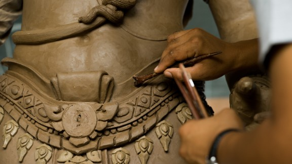 The most intricate works have been carried out by professional artists selected by the Thai government officials.