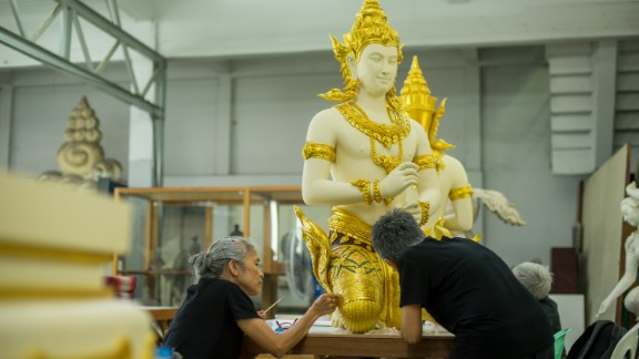The art workshops, which are located in and around Bangkok, are operated by the government's Department of Fine Arts.