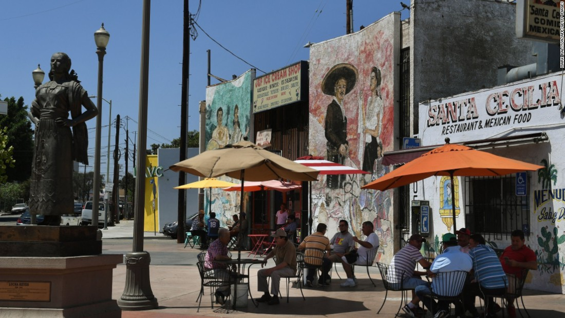 Boyle Heights, historically a predominantly Hispanic and low-income neighborhood in Los Angeles, is now home to trendy cafes and galleries.
