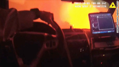 Bodycam video shows dramatic wildfire rescue