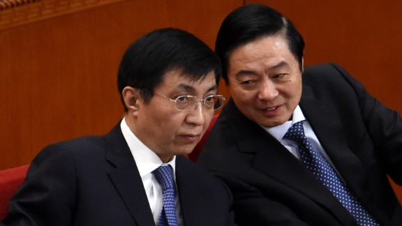 <strong>Wang Huning</strong> (left), 62, is a hugely influential Party theorist who has written policies for Xi and his predecessors Hu Jintao and Jiang Zemin.