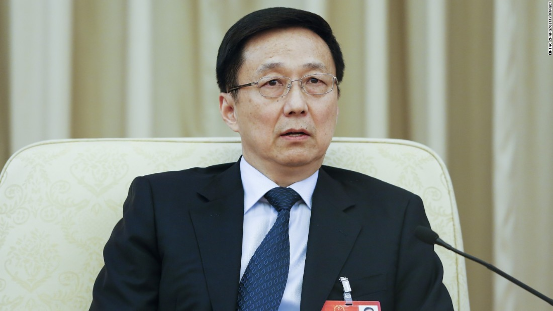 <strong>Han Zheng</strong>, 63, was the party boss of Shanghai, China's financial capital and largest city.
