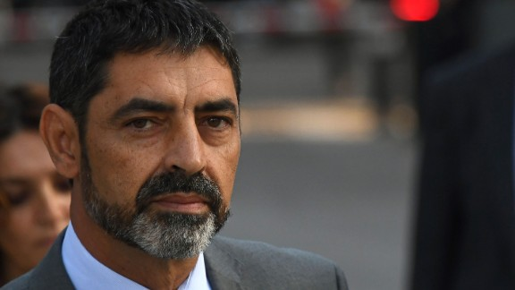 Dismissed Catalan police chief Josep Luis Trapero, pictured on October 16, is accused of sedition.