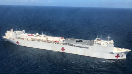 There's a hospital ship waiting for sick Puerto Ricans -- but no one knows how to get on it