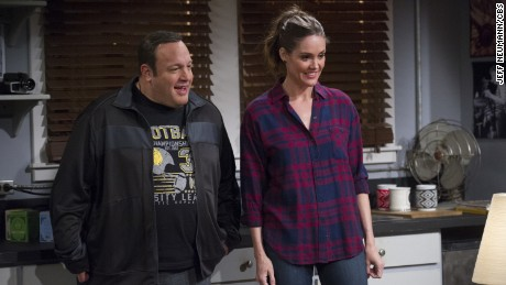 "Kevin James and Erinn Hayes in the first season of ""Kevin Can Wait."""