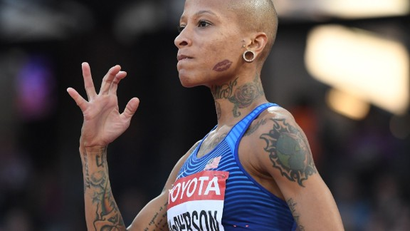 US high jumper Inika McPherson caught the eye at this year's World Athletics Championships in London. The 5ft 4in athlete has reportedly over 30 tattoos.