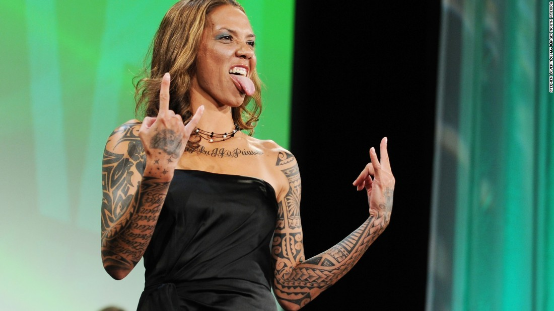 "American footballer Natasha Kai, who made her international debut in 2006, has a unique style and famously appeared on TV show ""LA Ink."""