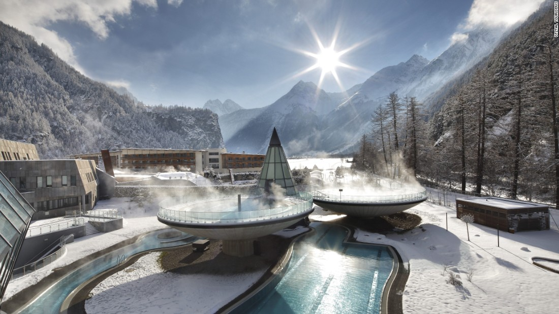 The Aqua Dome is Soelden's thermal spa set deep in the Otztal mountains.