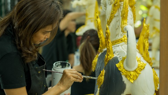 Tasked with crafting more than 500 sculptures for the extravagant five-day ceremony, some of the sculptors have been working daily for almost a year.