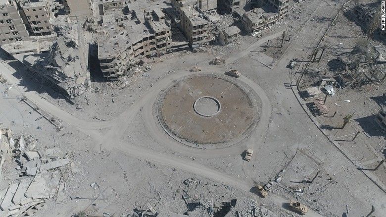 Raqqa drone video shows ISIS execution square