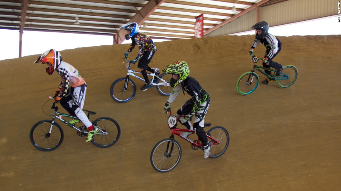 The way a BMX tournament works is not by timing races but round after round of eliminations over two days, until winners of each division are declared.