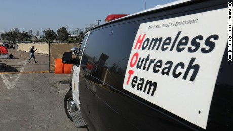 Homeless outreach in San Diego