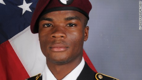 The Department of Defense announced today the death of Sgt. La David T. Johnson who was part of a joint U.S.  and Nigerian train, advise and assist mission.Sgt. Johnson, 25, of Miami Gardens, Florida, died October 4, 2017 in southwest Niger as a result of enemy fire.