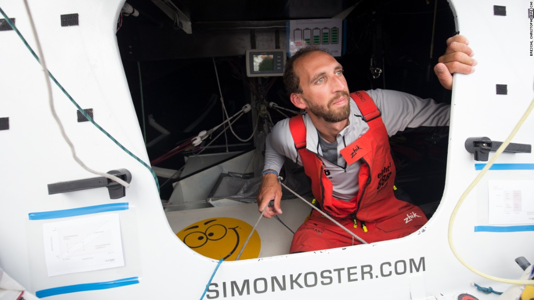 His boat is littered with messages that act as reminders and pointers from his sports psychologist.