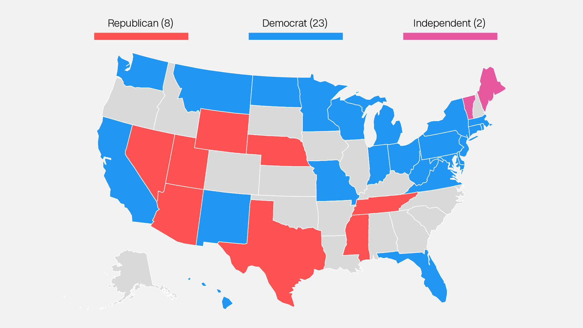 Us Map Democrat Vs Republican 2018 The 2018 Senate map is starting to look less awful for Democrats