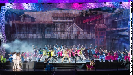 The first ever Bollywood Theme Park in Dubai during its grand opening.